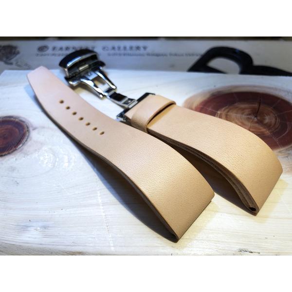 EARNEST:ハンドメイド【極厚フラットDバックル仕様/栃木レザーカーフ18mm,20mm,22mm,24mm】|cast