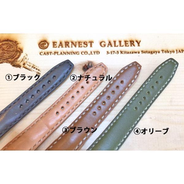 EARNEST:ハンドメイド【極厚フラットDバックル仕様/栃木レザーカーフ18mm,20mm,22mm,24mm】|cast|05