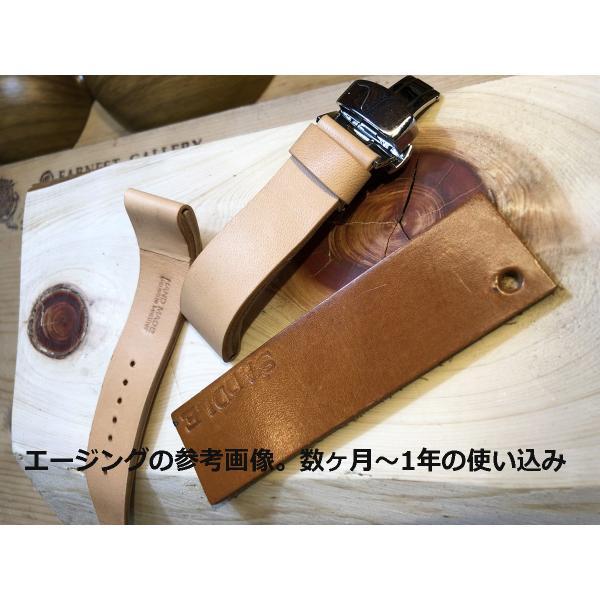 EARNEST:ハンドメイド【極厚フラットDバックル仕様/栃木レザーカーフ18mm,20mm,22mm,24mm】|cast|08