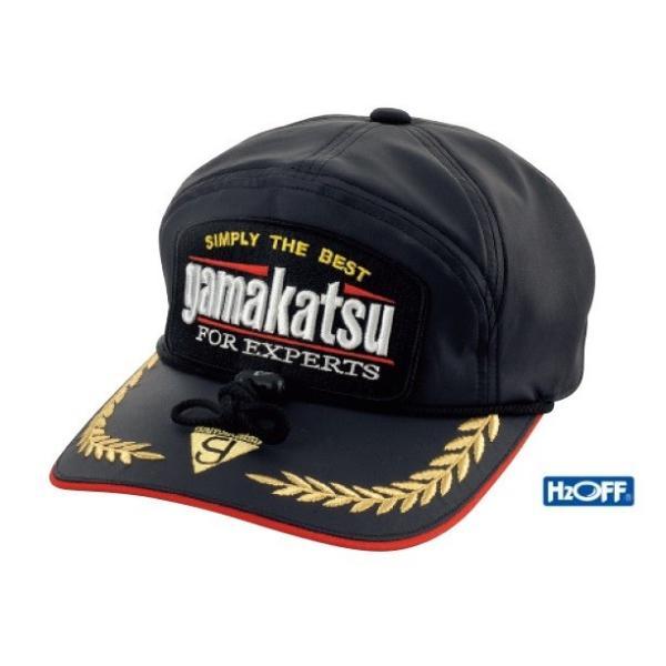 ガマカツ GM9482 H2OFFワッペンキャップ ブラック F(フリーサイズ) 帽子
