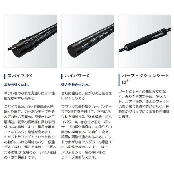 シマノ 19 グラップラー タイプLJ S63−3 (スピニング 2ピース)