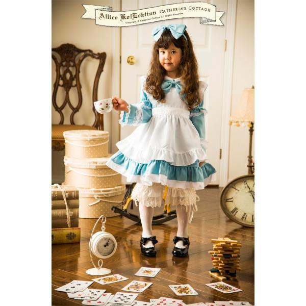 ハロウィン 子供  アリス ドレス エプロン セット  90 100 110 120 130cm FRSP|catherine|02