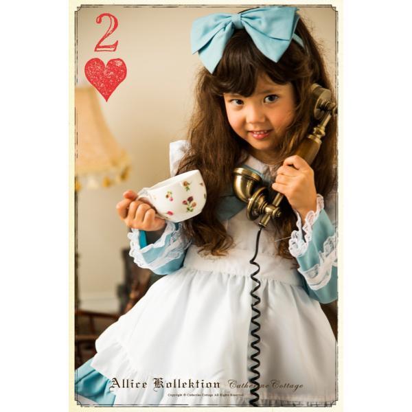 ハロウィン 子供  アリス ドレス エプロン セット  90 100 110 120 130cm ONB ZZ 期間限定セール|catherine|03