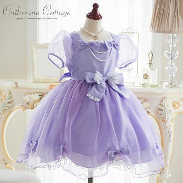 子供ドレス 発表会 結婚式 女の子 レースリボンのスクエア襟プリンセスドレス フォーマル 100-130cm|catherine|06