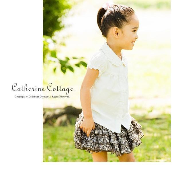 子供スカート キュートなチェック柄シフォンフリルスカート インナーパニエ|catherine|05