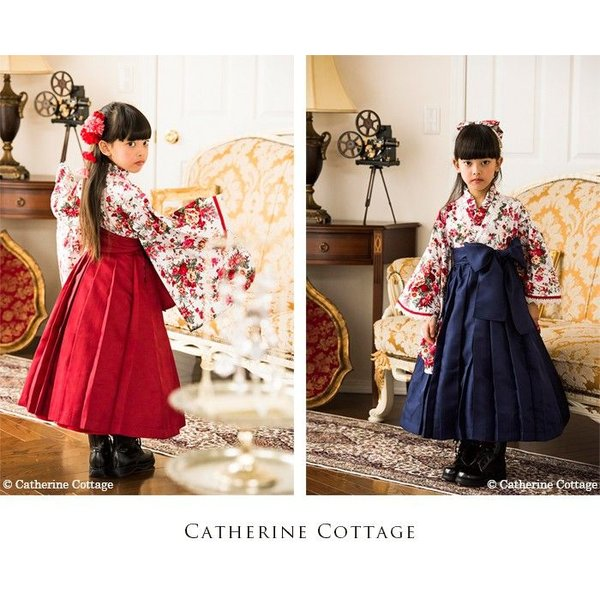 袴スカート単品 卒業式  卒園式 謝恩会 七五三 雛祭りに 女の子 3歳 7歳 和服 着物  子ども着物 子ども服|catherine|05
