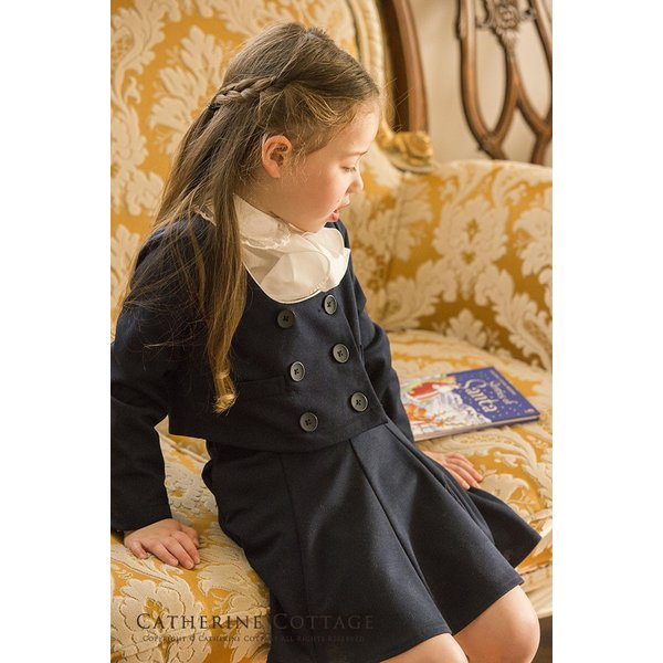 卒業式 スーツ 女の子 入学式 子供服 女の子 パイピングニットスーツ 110 120 130 140 150 160 cm ONB YS 期間限定セール|catherine|16