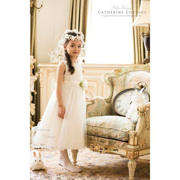266f297a970ac ... 子どもドレス バラとチュールのキッズドレス 100 110 120 130 140 150cm 結婚式 ...