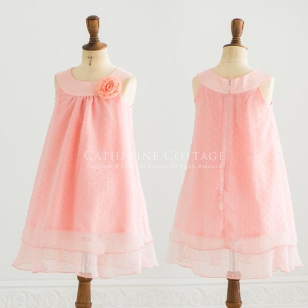 発表会 結婚式 子供 ドレス 服装 衣装  女の子 ワンピース Aライン ヨークシフォン  110-150cm|catherine|03