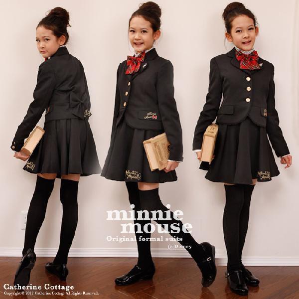 49fe69a8180bf ... 入学式スーツ ディズニー 正規ライセンス 女の子 ミニーマウス スーツ4点セット 110-165cm ...