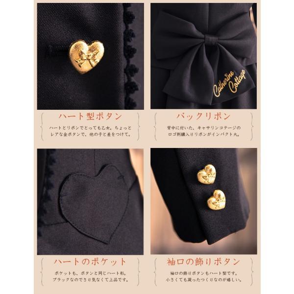 入学式・卒業式スーツ4点セット バックリボン刺繍スーツ フォーマル 女の子 卒服 110-165cm ONB TX 期間限定セール|catherine|04