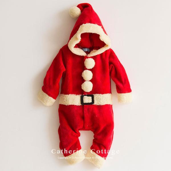 ベビー着ぐるみ サンタ トナカイ コスチューム クリスマス もこもこ ロンパース 70 80 90 95cm FRSP|catherine|02