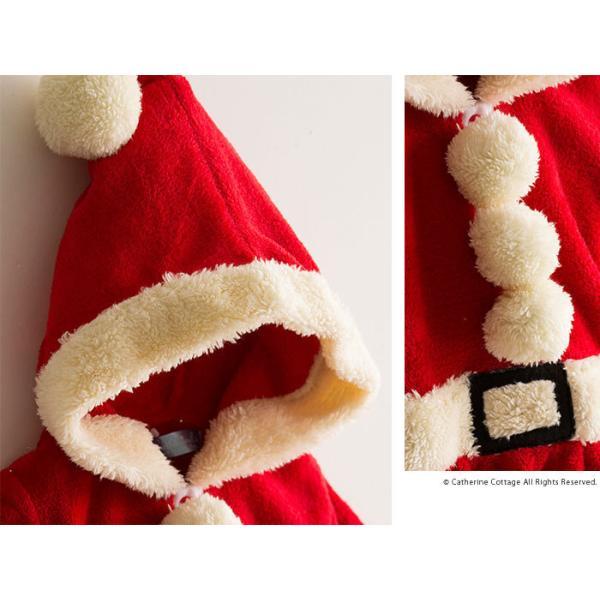 ベビー着ぐるみ サンタ トナカイ コスチューム クリスマス もこもこ ロンパース 70 80 90 95cm FRSP|catherine|04
