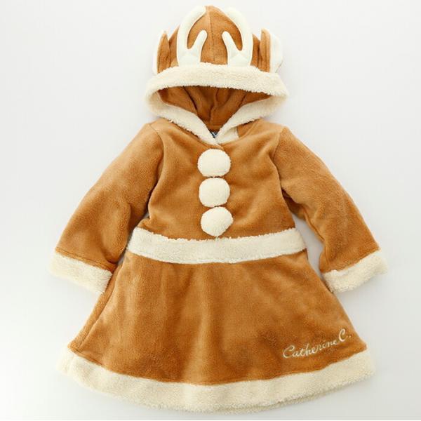 ベビー着ぐるみ サンタ トナカイ コスチューム クリスマス もこもこ ロンパース 70 80 90 95cm FRSP|catherine|06