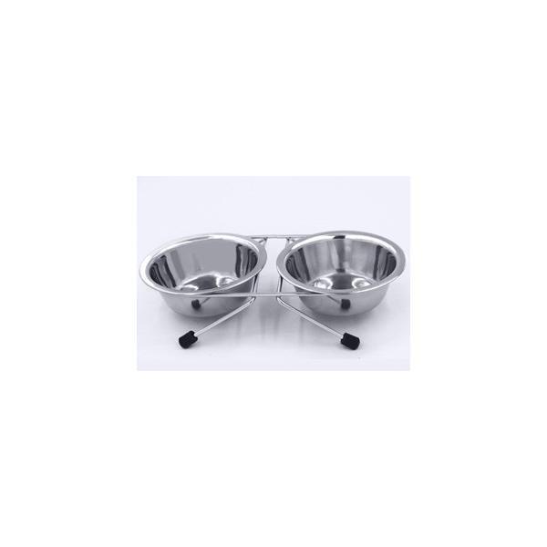 【宅配便配送】ステンレス製 ツイン食器 M 13号|cattery-branche
