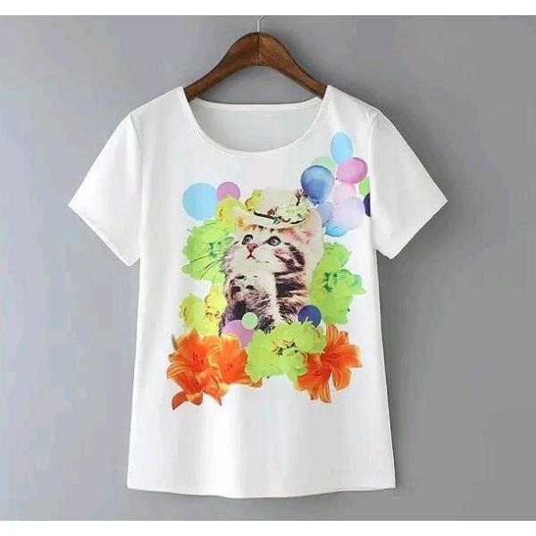 送料無料猫 猫柄 Tシャツ かわいい イラスト デザイン ユニーク 個性的