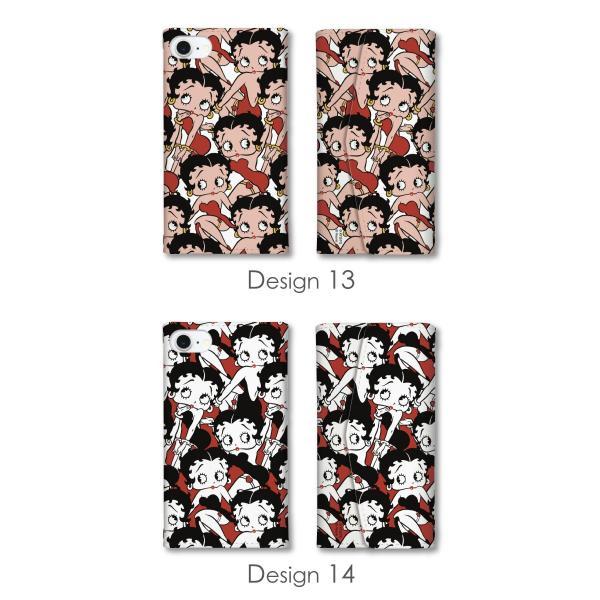 ベティー ブープ(TM) ベティーちゃん スマホケース 全機種対応 手帳型 ミラー付 鏡付 レター型 スマホカバー 正規品 Betty Boop(TM) 送料無料|caw|11