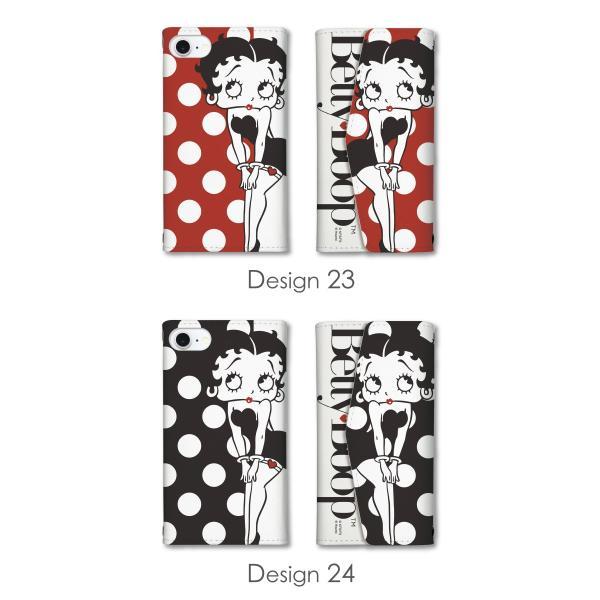 ベティー ブープ(TM) ベティーちゃん スマホケース 全機種対応 手帳型 ミラー付 鏡付 レター型 スマホカバー 正規品 Betty Boop(TM) 送料無料|caw|16