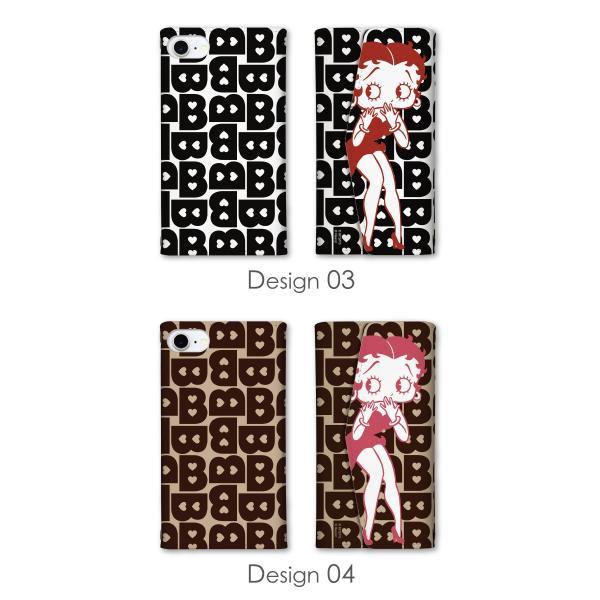 全機種対応 ミラー付 鏡付 レター型ケース (3つ折りタイプ) スマホケース ベティー ブープ(TM) ベティーちゃん キャラクター 正規品 Betty Boop(TM) 送料無料|caw|06