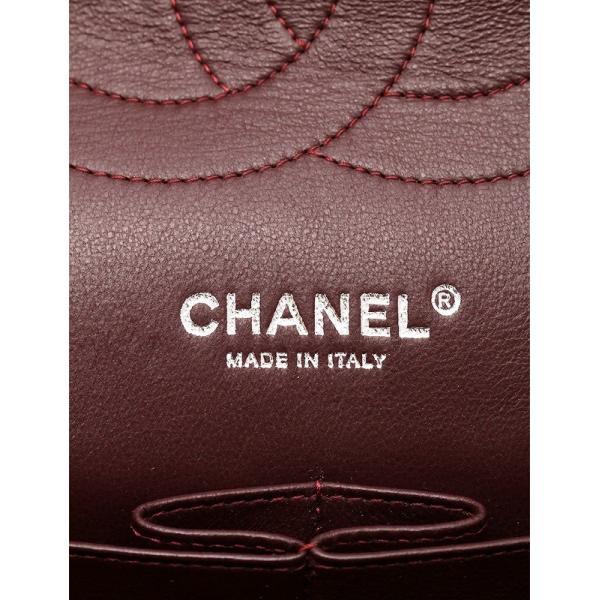 シャネル CHANEL マトラッセ30 キャビアスキン ブラック シルバー金具 Wチェーンショルダーバッグ デカマトラッセライン ダブルフラップ A58600|cawcaw|06