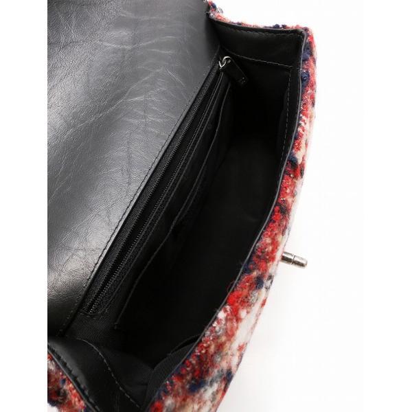 シャネル CHANEL 2WAY ハンドバッグ ムートン ツイード レザー アイボリー 黒 赤 ネイビー ベージュ ヴィンテージシルバー金具|cawcaw|05