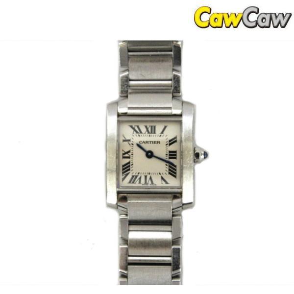 カルティエ タンクフランセーズSM W51008Q3 ホワイト Cartier|cawcaw