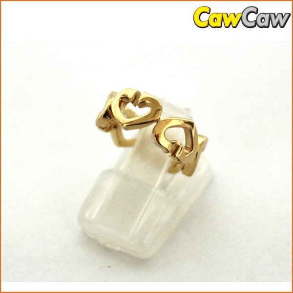 Cartier カルティエ K18YG Cハートリング 指輪 ゴールド|cawcaw
