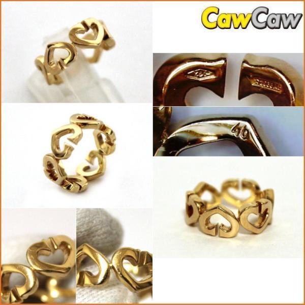 Cartier カルティエ K18YG Cハートリング 指輪 ゴールド|cawcaw|02