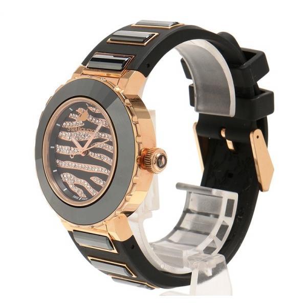 スワロフスキー 腕時計 5080197  オクテア スポーツ 50m防水 ゼブラ柄 5080197 Black Silicone Swiss Quartz Swarovski 美品