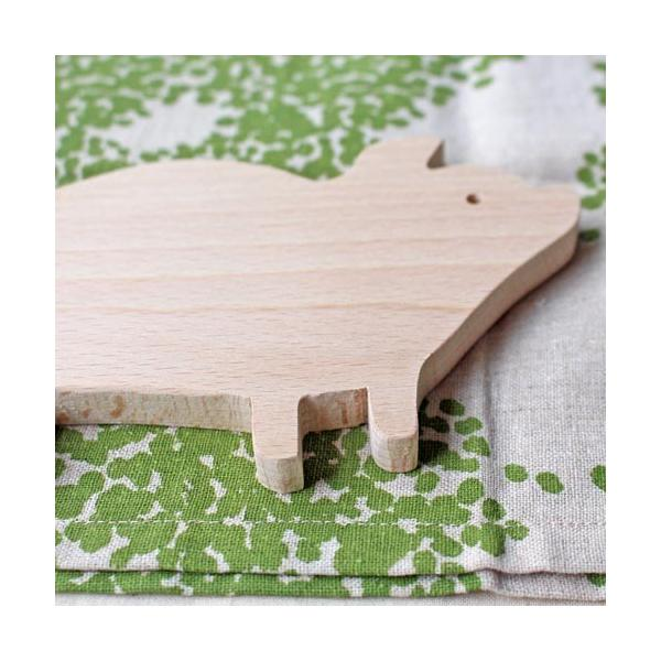 木製 鍋敷き ぶたさんなべしき 日本製 ポットスタンド かわいい 天然木 ブナ|cayest|02