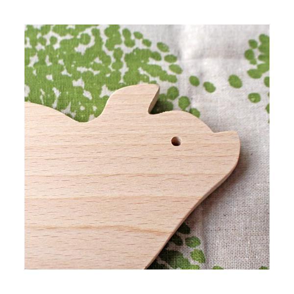 木製 鍋敷き ぶたさんなべしき 日本製 ポットスタンド かわいい 天然木 ブナ|cayest|03