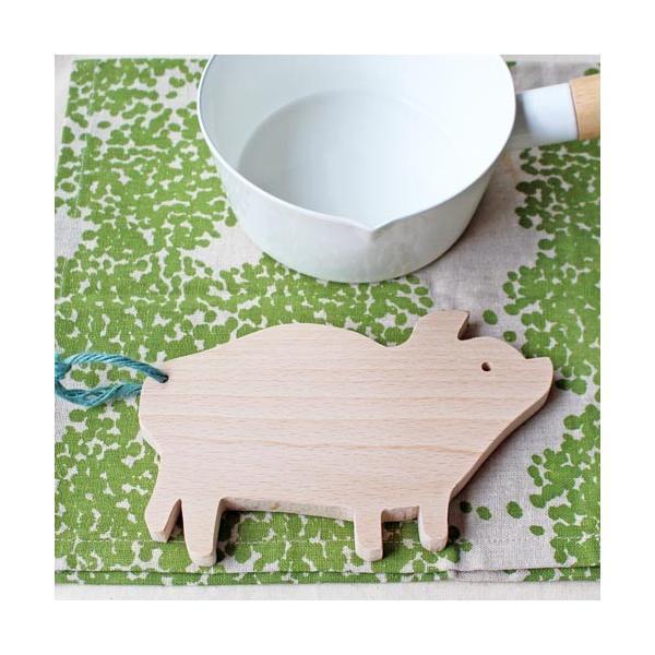 木製 鍋敷き ぶたさんなべしき 日本製 ポットスタンド かわいい 天然木 ブナ|cayest|04