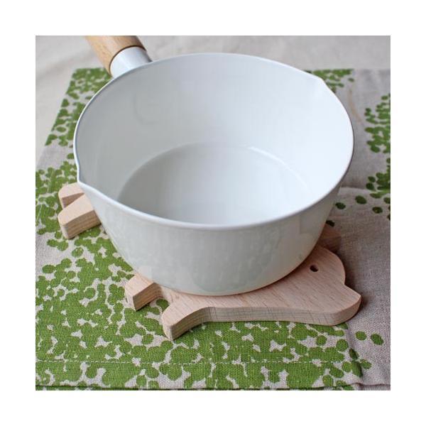 木製 鍋敷き ぶたさんなべしき 日本製 ポットスタンド かわいい 天然木 ブナ|cayest|07