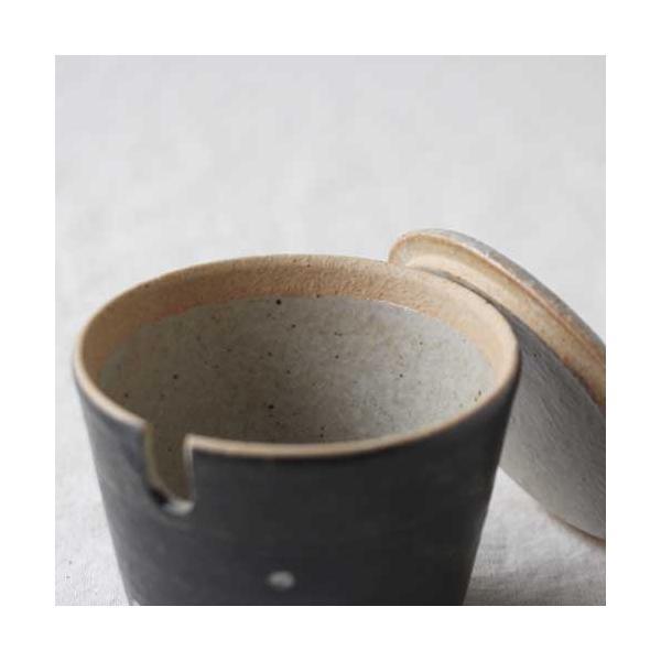 シュガーポット ドット 陶器 信楽焼 水玉 砂糖入れ 白 黒 cayest 03