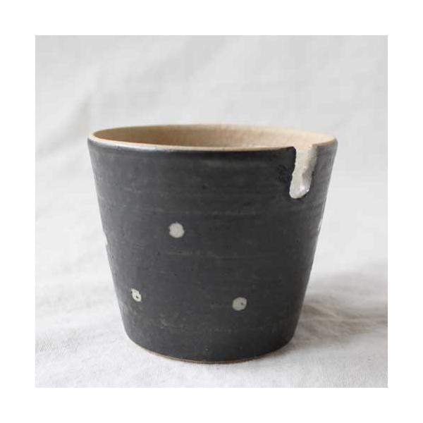 シュガーポット ドット 陶器 信楽焼 水玉 砂糖入れ 白 黒 cayest 04