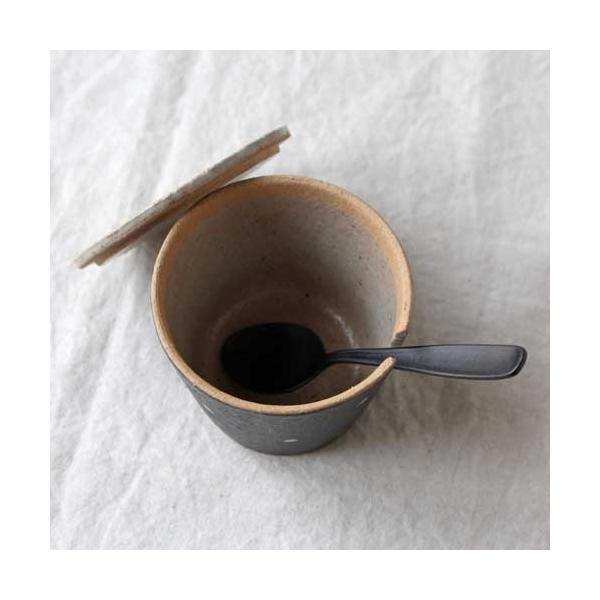 シュガーポット ドット 陶器 信楽焼 水玉 砂糖入れ 白 黒 cayest 05