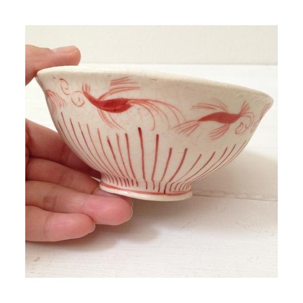 お茶碗 赤絵 飯碗 シノワ トクサ 廣川みのり 和食器 陶器|cayest