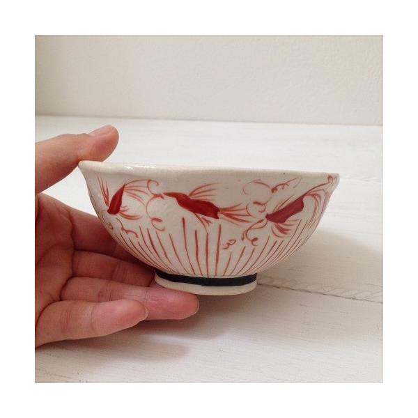 お茶碗 赤絵 飯碗 シノワ トクサ 廣川みのり 和食器 陶器|cayest|02