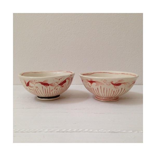 お茶碗 赤絵 飯碗 シノワ トクサ 廣川みのり 和食器 陶器|cayest|03