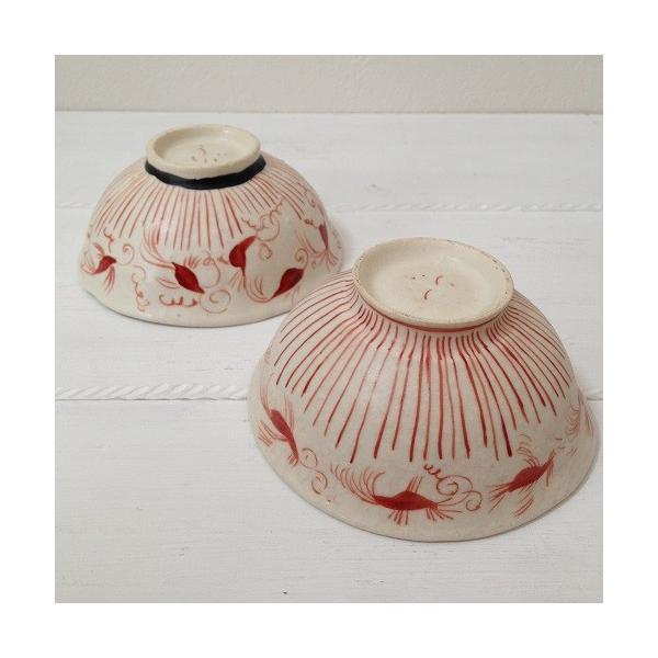 お茶碗 赤絵 飯碗 シノワ トクサ 廣川みのり 和食器 陶器|cayest|04