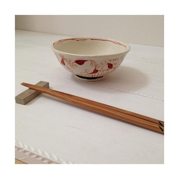 お茶碗 赤絵 飯碗 シノワ トクサ 廣川みのり 和食器 陶器|cayest|06
