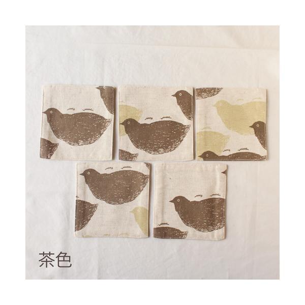 おしゃれなコースター 正方形 鳥 / 女の子柄 aosansyo|cayest|05