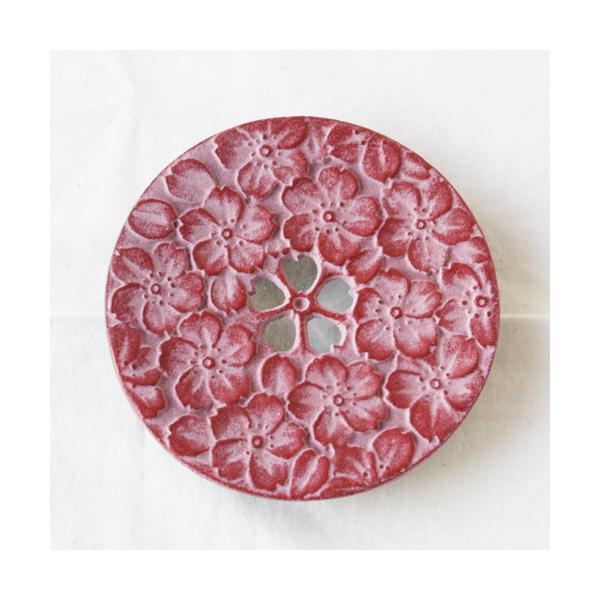 南部鉄器 瓶敷き 桜 10.5cm 桜赤/桜緑 鍋敷き cayest 03