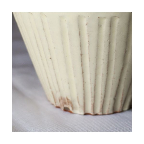 粉引マグカップ 白 シノギ 300cc 陶器 信楽焼 たっぷり カフェ おしゃれ cayest 04