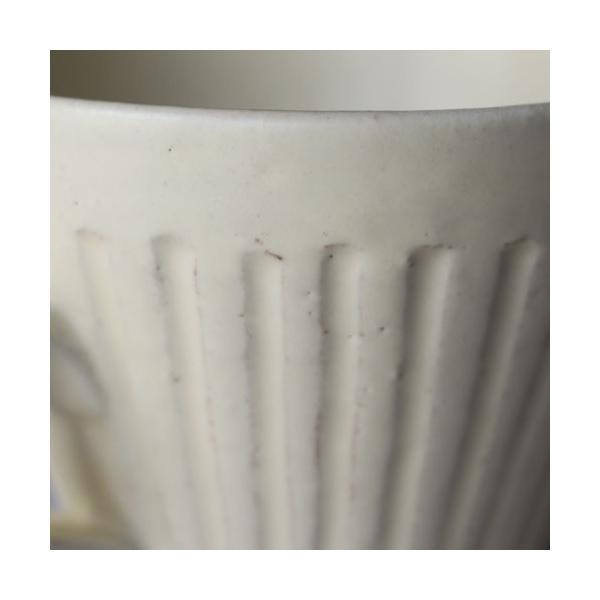 粉引マグカップ 白 シノギ 300cc 陶器 信楽焼 たっぷり カフェ おしゃれ cayest 05