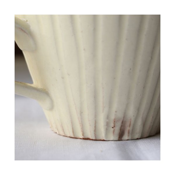 粉引マグカップ 白 シノギ 300cc 陶器 信楽焼 たっぷり カフェ おしゃれ cayest 07