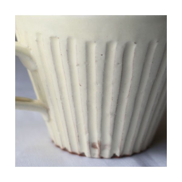 粉引マグカップ 白 シノギ 300cc 陶器 信楽焼 たっぷり カフェ おしゃれ cayest 08