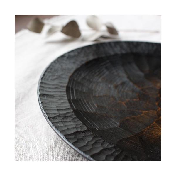 漆器 アルダー拭漆 木製食器 丸皿 21cm 7寸 ノミ目 甲斐幸太郎|cayest|05