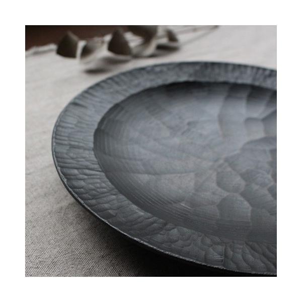 漆器 アルダー拭漆 木製食器 丸皿 21cm 7寸 ノミ目 甲斐幸太郎|cayest|06
