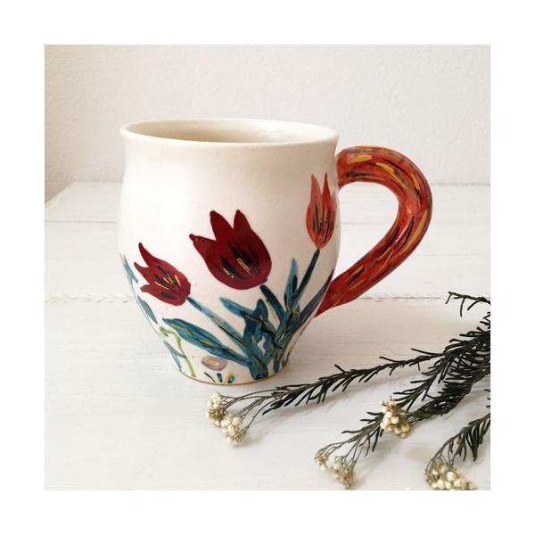 陶器 マグカップ チューリップ 野花 廣川みのり カラフル 作家の器|cayest
